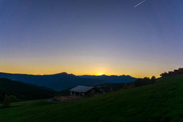 Sonnenuntergang in Hafling/Vöran